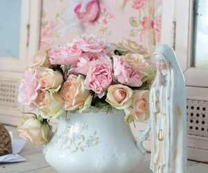 roses, beautiful, and shabby chic image