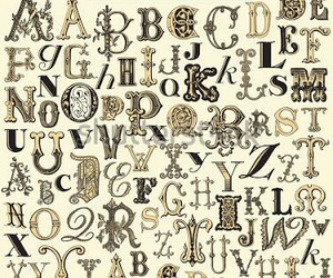 alphabet, letters, and oldies image