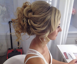 curls, hair, and hairdo image