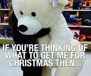 christmas, teddy, and present image