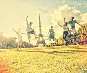 paris, friends, and eiffel tower image