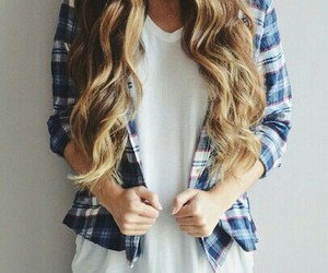 blond, hair, and style image