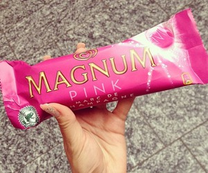 pink, Magnum, and food image