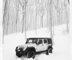 jeep, snow, and winter image