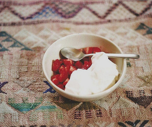 strawberry, food, and vintage image