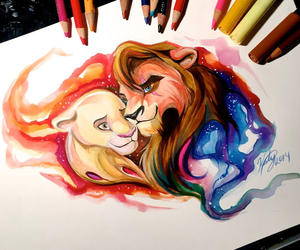 disney, drawing, and love image