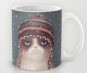 cat, mug, and home image
