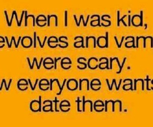 vampire, werewolves, and funny image