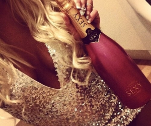champagne, blonde, and girl image