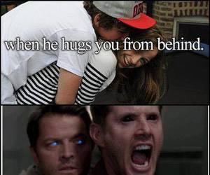 hug, supernatural, and funny image