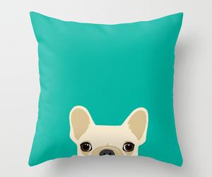 bed, dog, and french bulldog image