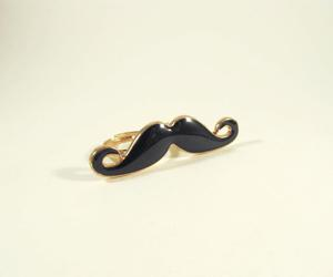 fashion, jewelry, and mustache image
