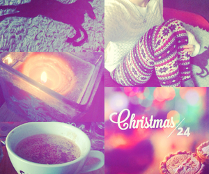 candle, cappuccino, and christmas image