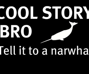 funny and narwhal image