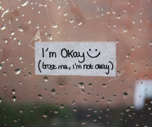 okay, quote, and rain image