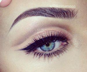 eye, eyeliner, and beautiful image