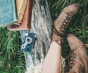 books, hipster, and fashion image
