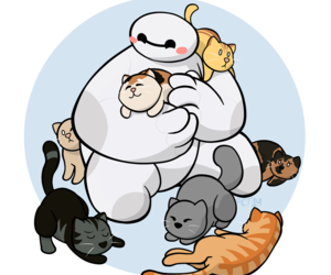 baby, hairy, and baymax image