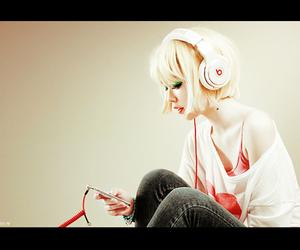 girl, music, and fashion image