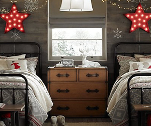 bedroom and christmas image