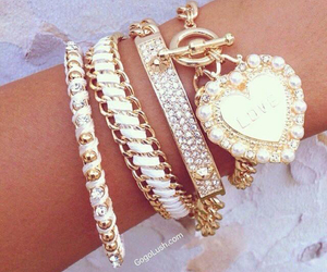 bracelet, fashion, and diamond image