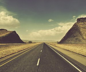 road and vintage image