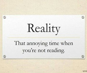 books, reality, and reading image