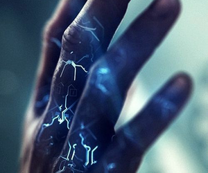 hand, blue, and power image