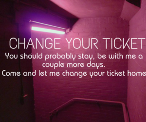 1d, one direction, and change your ticket image