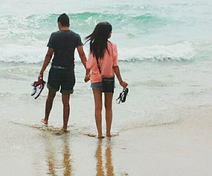 beach, couples, and summer image