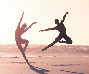 beach, dance, and dancer image