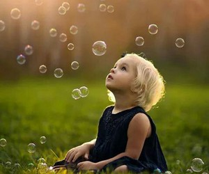 child, baby, and bubbles image