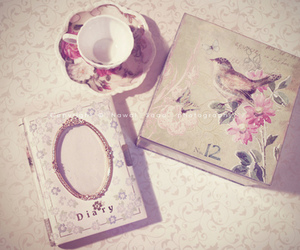 vintage, diary, and book image