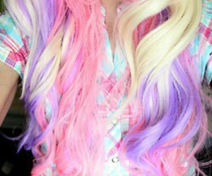 hair, cute, and colors image