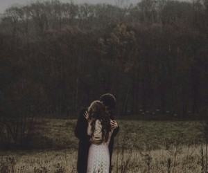 couple, forest, and hug image