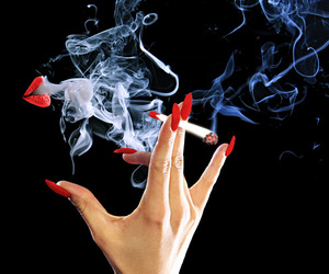 red, smoke, and nails image