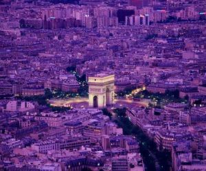 paris, purple, and city image