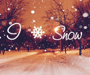 snow and love image