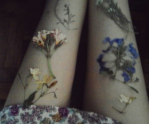 flowers, legs, and grunge image