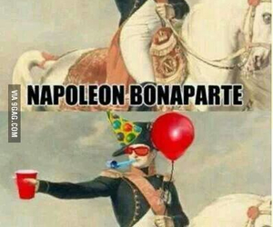 funny, napoleon, and party image
