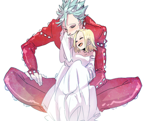 ban, anime couple, and elaine image