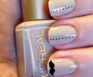 moustache and nail image