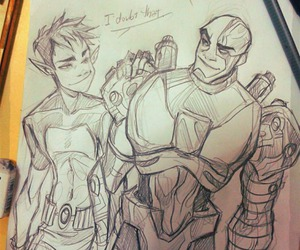 cyborg, teen titans, and beast boy image