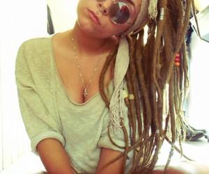 dreads, rasta, and pircing image