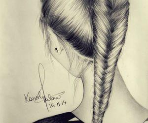 art, hair, and trança image