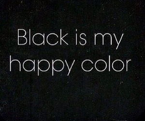 black and happy color image