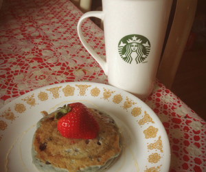 healthy, strawberry, and breakfast image