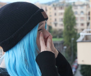 blue, blue hair, and blue wig image
