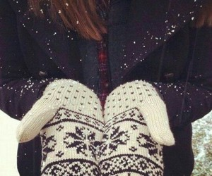 brown hair, girl, and cold image