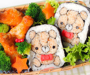 food, sushi, and bear image